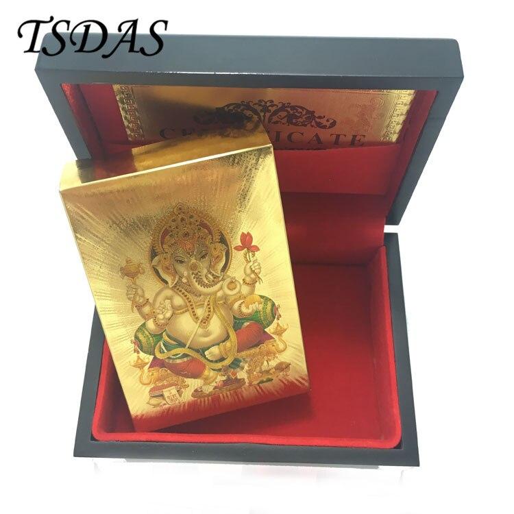 Ein Deck Goldfolie Poker Indien Gott Stil Spielkarten Vergoldet ...