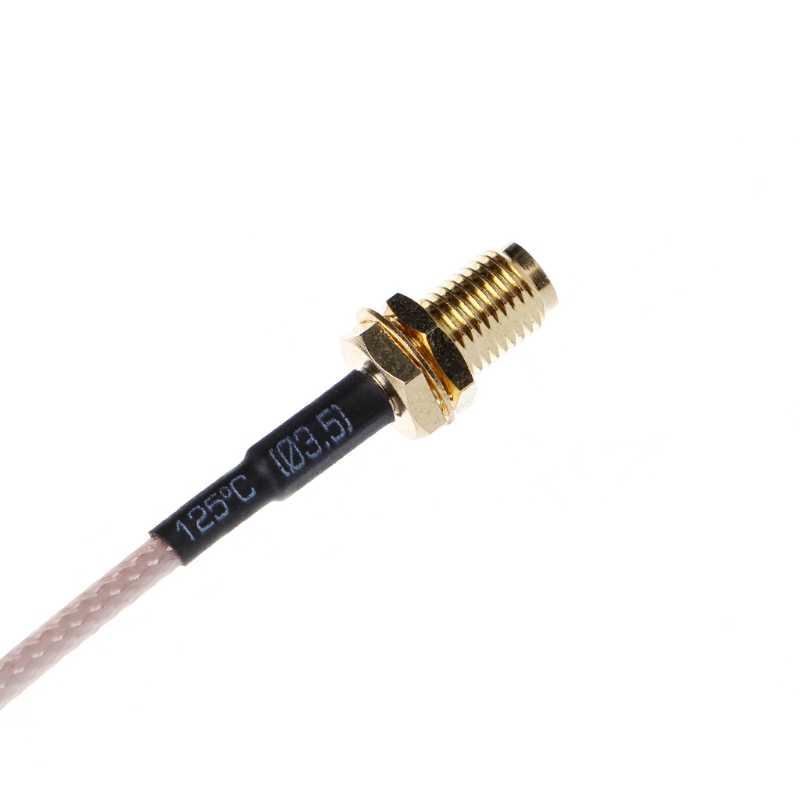 """RF RP SMA żeński na MMCX męski kątowy kabel pigtailowy RG316 15cm 6"""""""