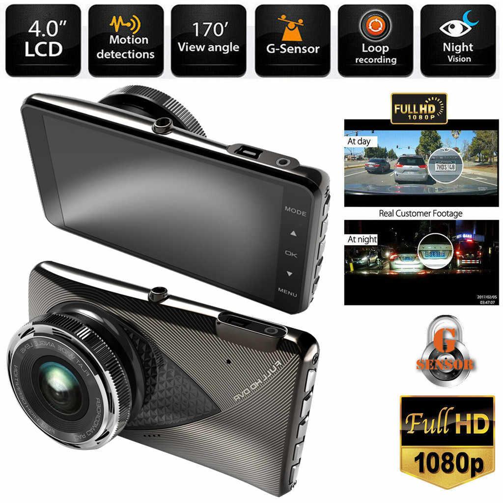 HD 1080 P Carro DVR Veículo Camera Video Recorder Traço Cam Visão Noturna 3.0 polegada Câmera Gravador Automático