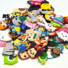 50 unids/lote, accesorios para zapatos de PVC al azar, decoración para zapatos, amuletos para zapatos para niños, Jibz Croc, zuecos, zapatos y pulseras