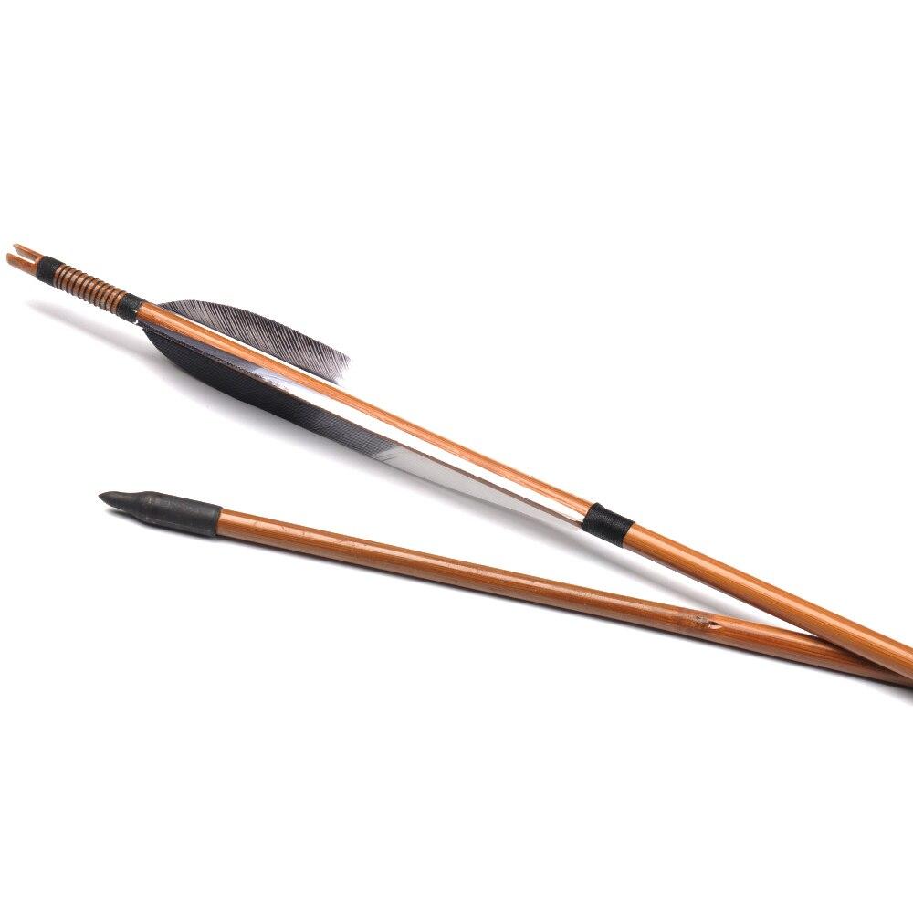 500 Setas De Bambu com Pena do