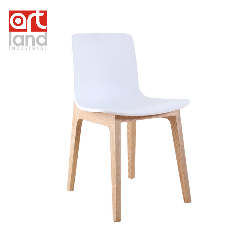 plastic side chair with wood legs dining chair leisure chair cheap free shipping door to door ch177 natural side chair walnut ash