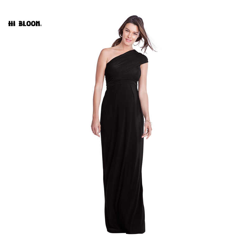 dd4007a344f ... Long Maternity Maxi Dresses Maternity Clothes Elegant Evening Dress For Pregnant  Women Pregnancy Gown Office Lady ...