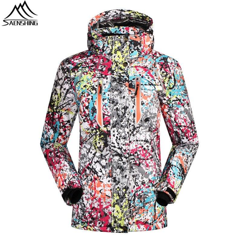 2016 Ski jacket Women thicken warm Winter women`s snowboard jacket for Mountain skiing Snow Coats Female Waterproof Ski Clothes