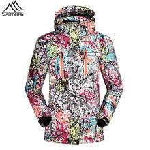 SAENSHING Лыжная куртка женщин Сгущает теплая зима сноуборд куртка для горных лыж, сноуборда Женский Водонепроницаемый лыжные куртки