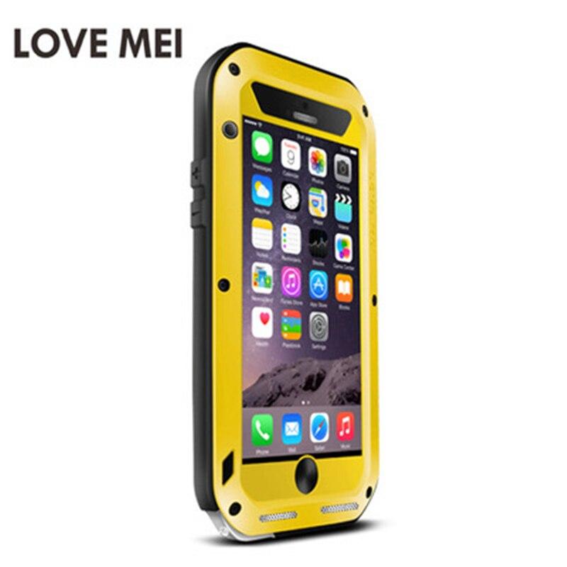 LOVE MEI étui pour iPhone 6 s en aluminium en métal Plus armure antichoc vie couverture étanche pour iPhone 6 s Capa housse de téléphone - 5