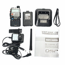 Pufung uv5re cb радио baofeng uv-5re dual band рация 5 Вт КВ трансивер длинные rangetwo способ радио FM flashligh vhf/uhf(China)