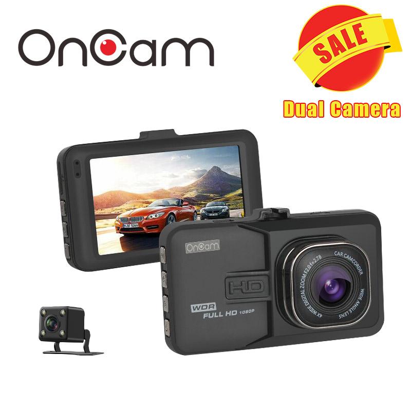 Prix pour Voiture DVR Voiture Caméra Dash Cam Dash Caméra Vidéo Enregistreur double caméra oncam t636 1080 p full hd 170 degrés angle G-capteur