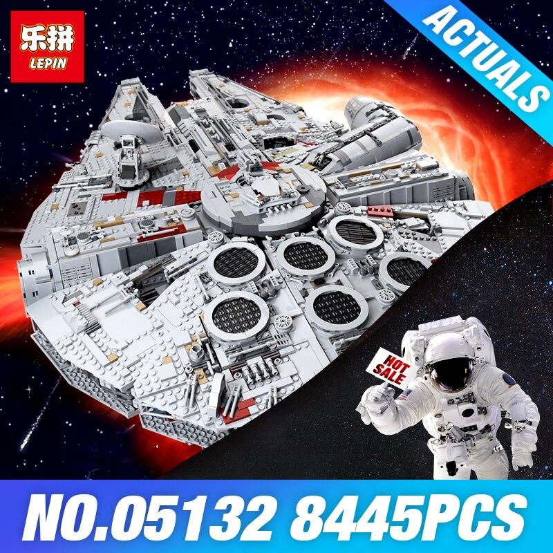 Лепин 05132 серии Star Wars 75192 Сокол Тысячелетия Ultimate Коллекционная модель прослужит строительные блоки кирпичи игрушки DIY подарки