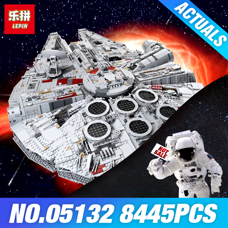 Lepin 05132 Star Series Wars 75192 Millennium Falcon Ultimate Collector's Model Destroyer Building Blocks Bricks Toys DIY Gifts игровой набор mattel star wars tie fighter vs millennium falcon 2 предмета cgw90
