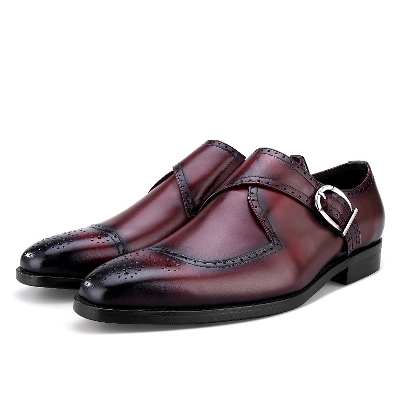 5ad737fc8 Escritório Casamento Preto Sapatos Noivo tan Negócios Vestido Do Dos tan Moda  Homens De Black Genuíno Couro ...