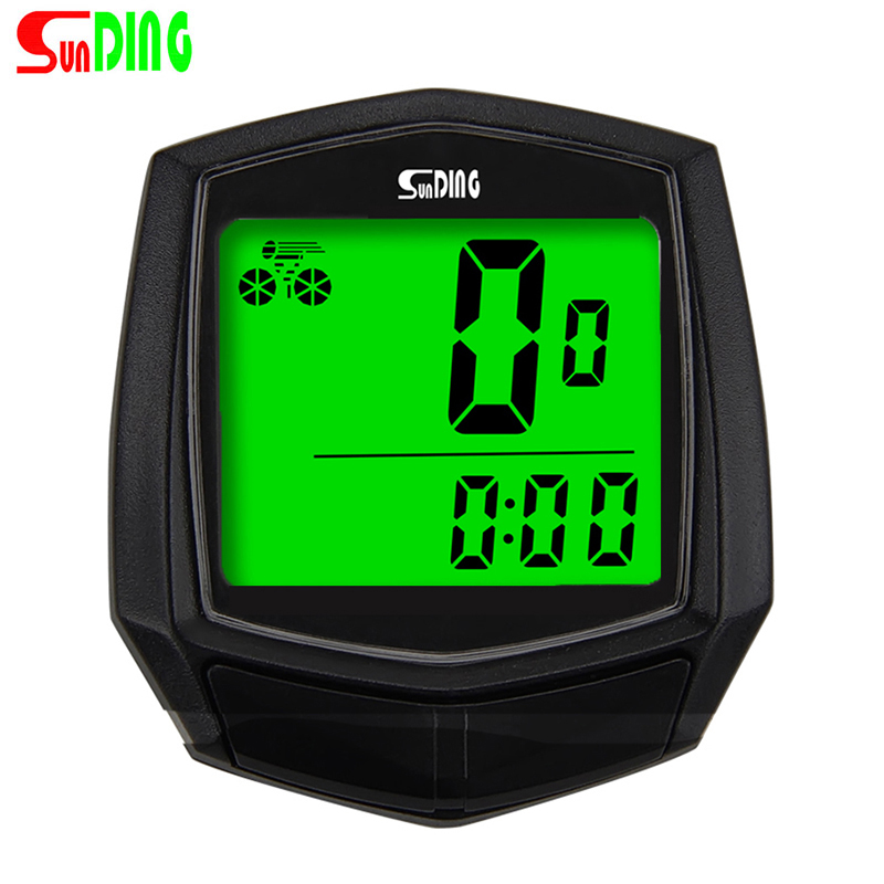 SUNDING SD-581A Bike Wired Computer Speedometer Odometer Cycling Bicycle Waterproof Measurable Temperature Stopwatch