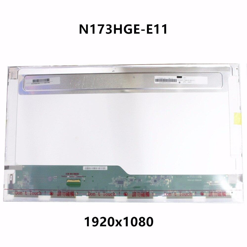 New Genuine 17.3 LCD LED Screen Display Panel Matrix N173HGE-E11 N173HGE-EA1 Fit B173HTN01.1 1920x1080 HD Display eDP 30 Pin