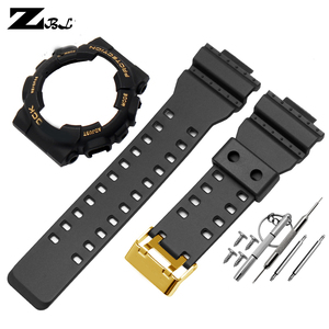 Image 5 - silicon rubber bracelet for casio g shock GD GLS GA  100 110 120 Watch Band Convex Strap watchband and case Rubber watch strap