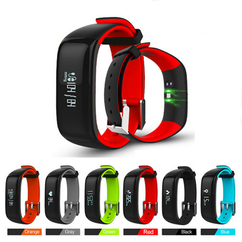 P1 Smartband Watches Blood Pressure Bluetooth Smart Bracelet Heart <font><b>Rate</b></font> <font><b>Monitor</b></font> Smart Wristband Fitness for iOS Android Phone