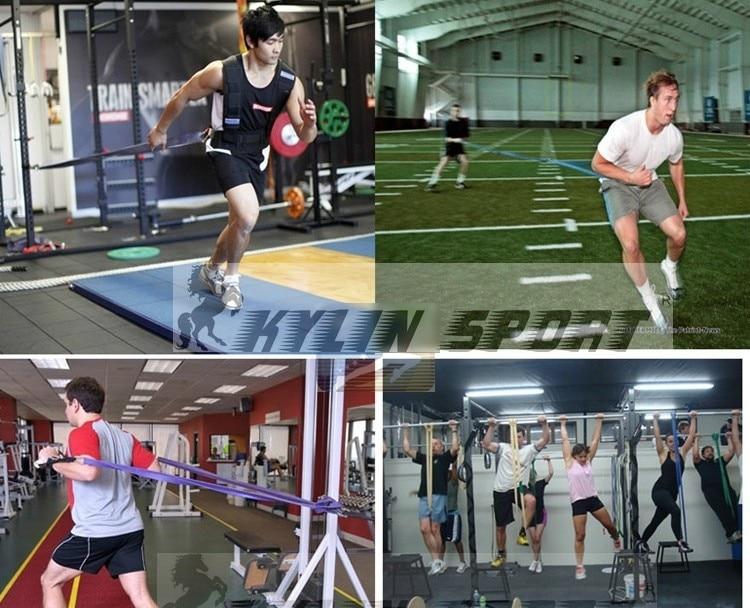 4.4cm Green Width Gym Premium Latex Træk op Body Bands CrossFit Loop - Fitness og bodybuilding - Foto 5