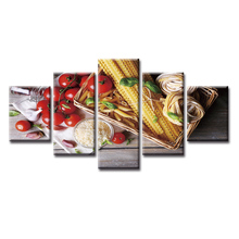 5 Pieces Large Canvas Painting Pictures Modern Food series Wall for Living Room Print Paintings Home Decor