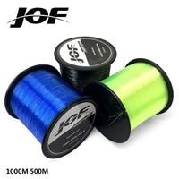 JOF 1000 M 500 M нейлоновая леска моно 4,4-28,6 lb соленая вода/пресноводный японский материал