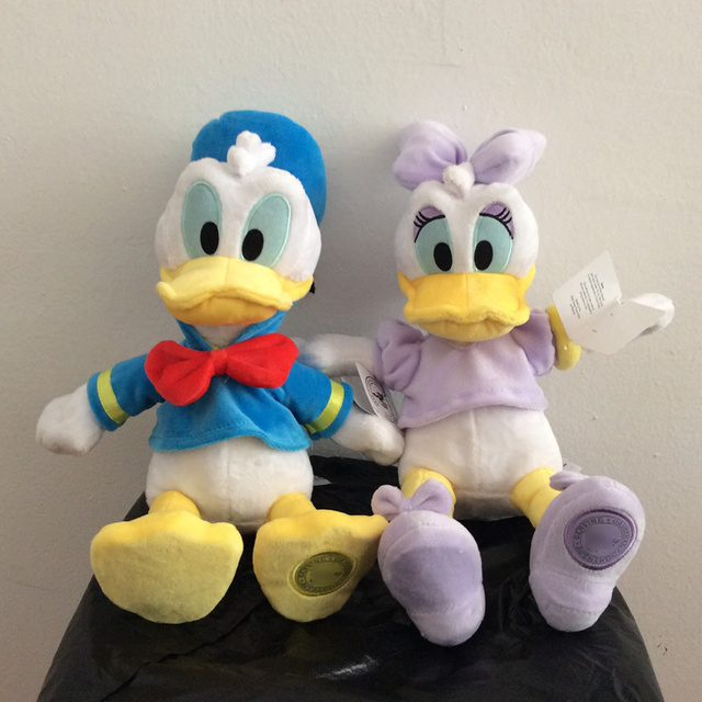 35cm Donald Duck And Daisy Duck Stuffed animals plush Toys 13 8 High quality Donald Soft