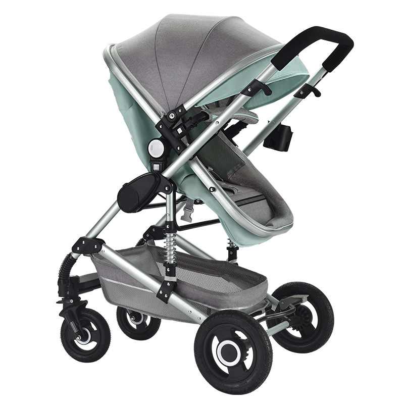 Baby Stroller Light High Landscape Four Wheels Reclining Folding carriage Baby Stroller Newborn Stroller infant Pram