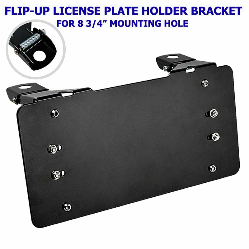 Bracket License Plate frame Holder Parts Accessories For Fairlead Replacement Black.Winch|License Plate| |  - title=