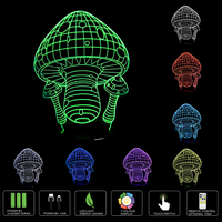 7 Color Changing Night Lamp 3D LED Bulbing Light Mushrooms LED Lamp For Kids Toy Christmas
