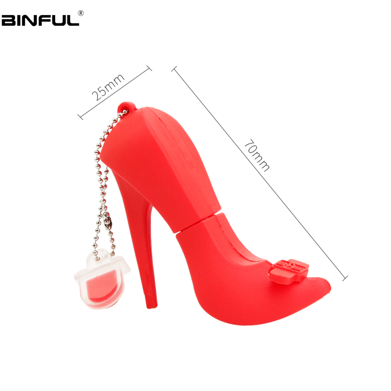 Image 4 - Creative Red High Heels Usb Stick Usb Flash Drive 4GB 8GB 16GB Silicone Cartoon Pen Drive 32GB 64GB 128GB High Speed Flash Disk-in USB Flash Drives from Computer & Office