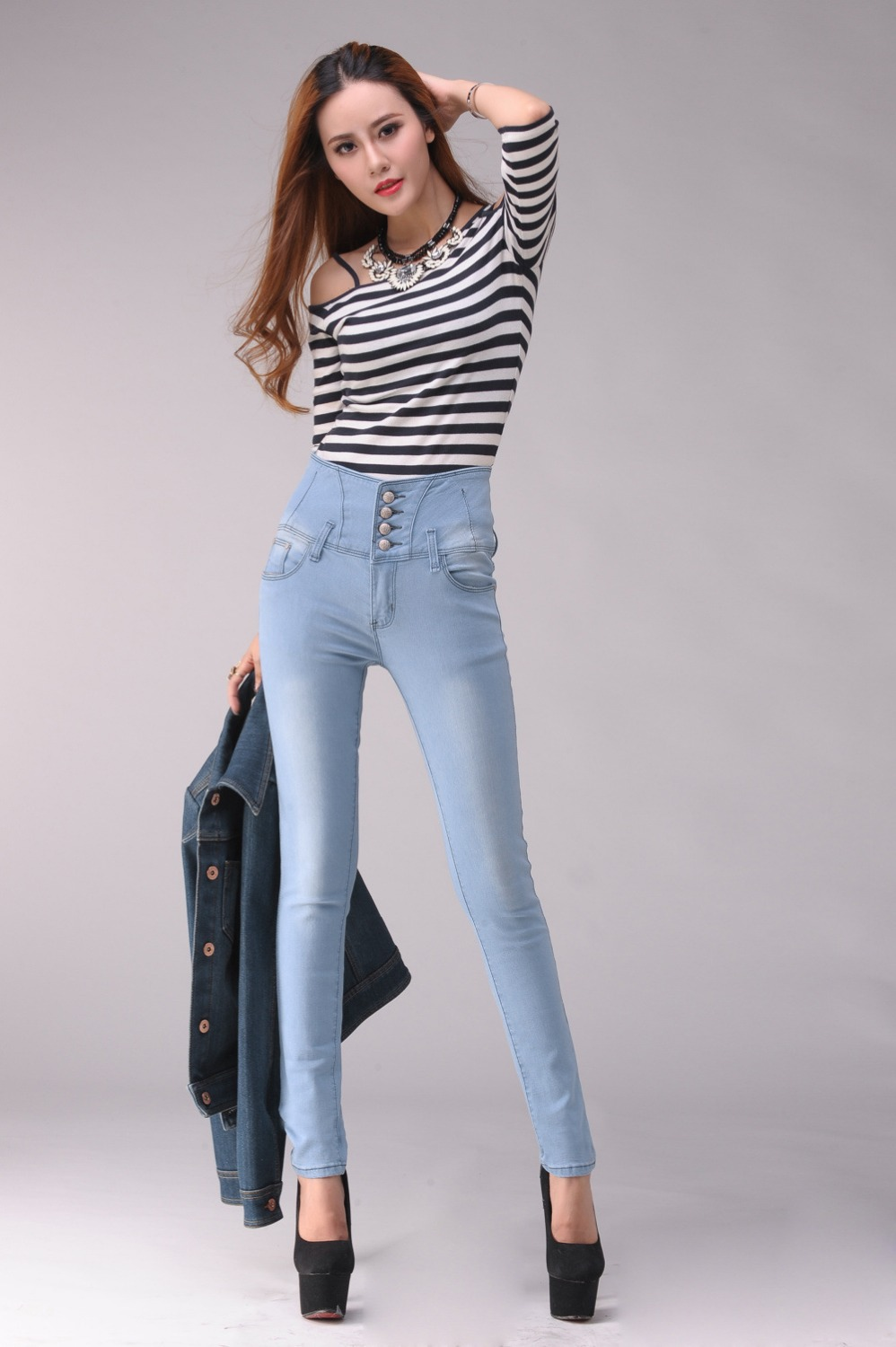 Aliexpress.com : Buy high waist jeans Women Sexy Pencil Denim ...