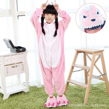 New Spring Autumn Flannel Children Pajamas Animal Cartoon 4-12 years old Girls Boys Clothes Unicorn Dinosaur Children jumpsuits