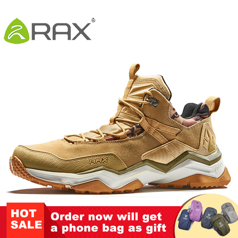 RAX Men's Waterproof Hiking Shoes Climbing Backpacking Trekking Mountain Boots for Men Outdoor with Cushiong Insole and Midsole