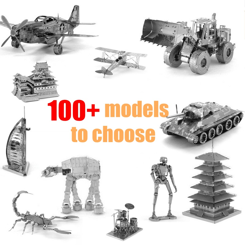 3D Metal Puzzle Model For Adult Children Intellectual Development Collection Educational Manual Puzzle Toys Jigsaw Puzzles