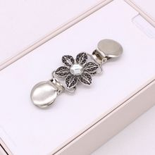 Sweater Clip Scarf Clips Winter Scarves Buckle Metal Floral Fashion Decoration Jewelry Rhinestone Charms Clothing Ornaments