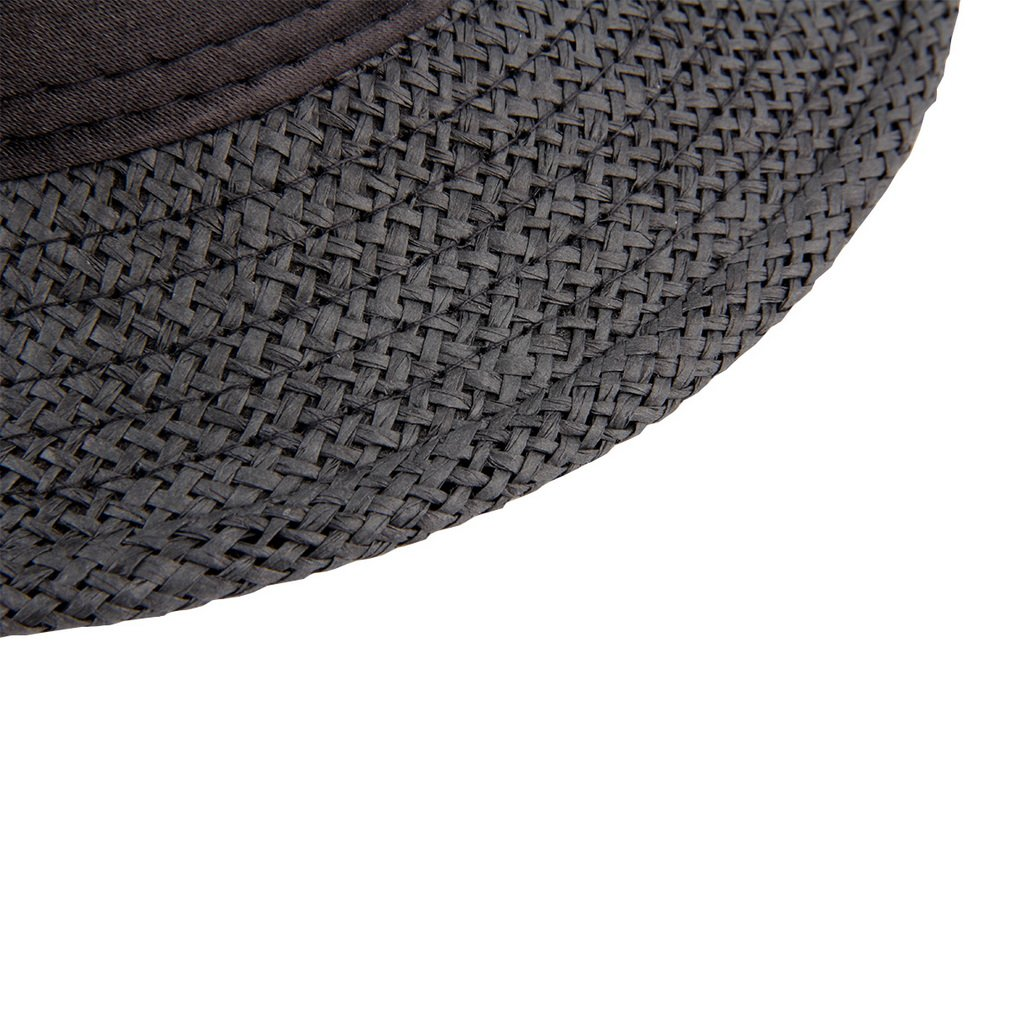 Summer Neutral Style Unisex Casual Hemp Cotton Panama Hats Caps Jazz Hat Fedora Cap Fit with Any Summer Trappings Color:coffee