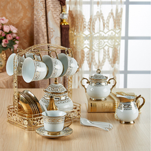 6pcs-set European tea coffee cup afternoon set bone china English saucer household drinkware gift for friends