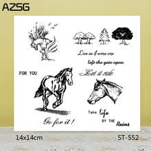 AZSG Struggling / Free Life Clear Stamps/Seals For DIY Scrapbooking/Card Making/Album Decorative Silicone Stamp Crafts