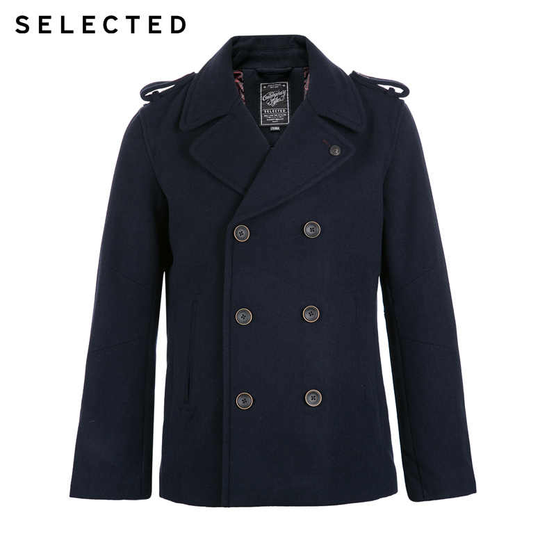 6d15d0f868bd ... SELECTED Brand 2018 NEW wool70% fashion smart casual lapel double  breasted coat men wool jackets ...