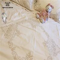 100% Cotton Bedding Set Handmade Battenburg Lace Ivory 4pcs Sheet Pillow Case &Duvet Cover Queen Size