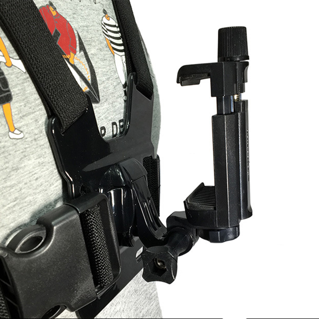 Chest Mount Harness Strap Holder With Cell Phone Clip For Mobile PhonesChest Mount Harness Strap Holder With Cell Phone Clip For Mobile Phones