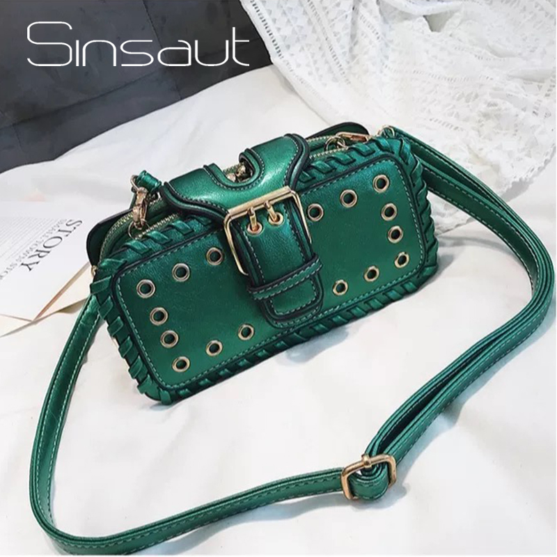 Sinsaut  Bags For Women 2018 Trendy Crossbody Bags Women Messenger Bags Small Package Multi-layer Luxury Rivets BagsSinsaut  Bags For Women 2018 Trendy Crossbody Bags Women Messenger Bags Small Package Multi-layer Luxury Rivets Bags