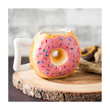 Donut Cup Creative Ceramic Bread Mug Biscuit Milk Coffee tea cup art handmade glass office