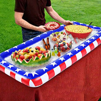 Inflatable Beer Table Pool Float Food Drink Holder Summer Water Party Air Mattress Ice Bucket Serving/Salad Bar Tray