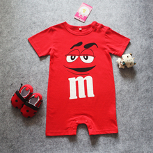 Cartoon Printed Newborn Baby Rompers