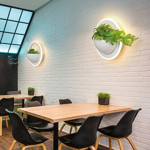 planta moderna luzes parede criativo cabeceira
