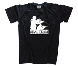 Venda quente 2018 moda eua navy seals (vi)-seal team bw exército forças especiais militar t-camisa de impressão masculina