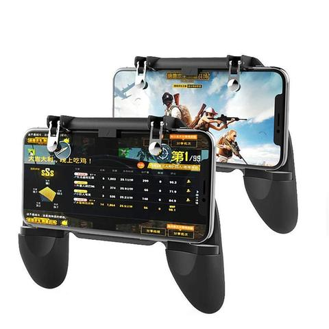 New Gamepads PUBG Mobile Game Controller Trigger Aim Button L1 R1 Shooter Joystick for Iphone X Samsung Phone Game Accesorios Lahore