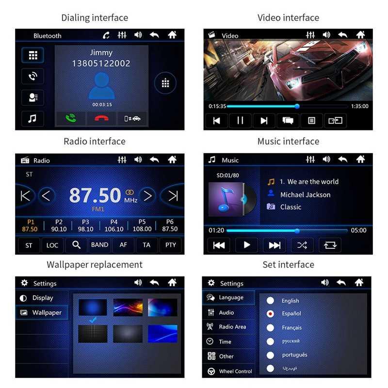 1 Din Car Stereo Radio MP5 MP4 Player 7 pollici HD Schermo di Tocco di Bluetooth di Sostegno Posteriore Della Macchina Fotografica di TF/FM /USB/AUX Mirrorlink Multimediali