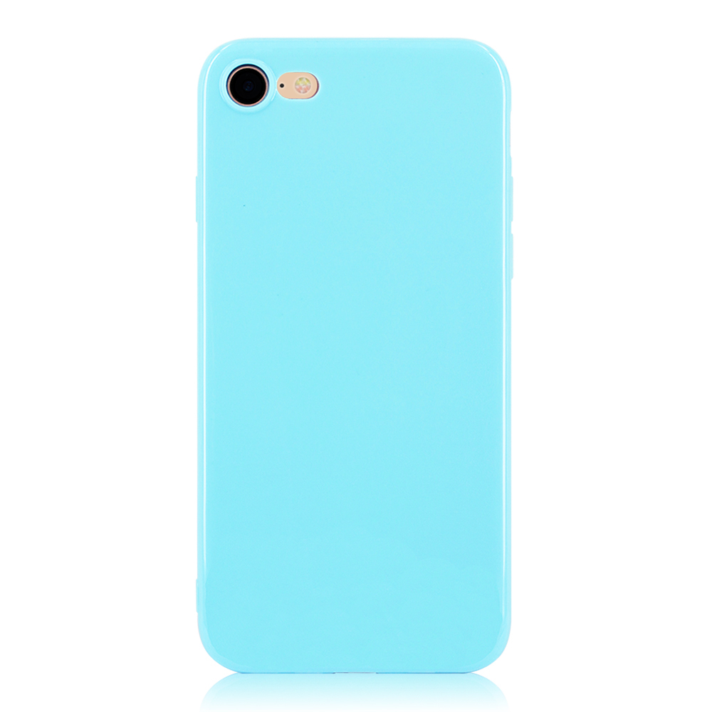 KIP71147SB_1_Smooth Pure Color Series Soft TPU Case for iPhone 7