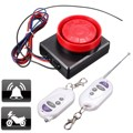 12V Motorcycle Bike Anti-theft Alarm System Vibration Detector +2 Remote Control