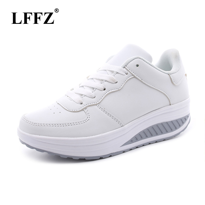 LFFZ Plus Size Spring Women Flat Platform Shoes Woman White Nursing Shoe Loafers Slip on Moccasins Slimming Shoes woman ST207 цена 2017