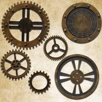 Classic Vintage Home Decor Bar Club Coffee House Wall Ornaments Nostalgic Wooden Art Crafts Wheel Gear